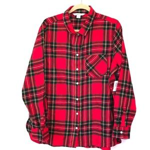 NWT Old Navy Classic Plaid Men's Button Up XL